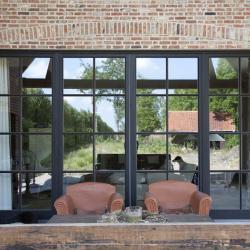 Topglass houten ramen landelijke stijl kleinhouten latten